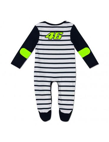 Pyjama Rayé Sun and Moon - Valentino Rossi 2020 - bébé motard - Vue de dos