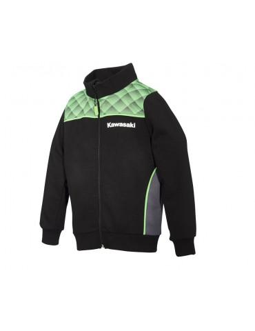 Sweat Zippé Sports Enfant - Kawasaki 2020 - Vue de 3/4