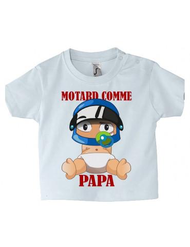 Tee-Shirt bébé Mosquitos BébéMotard - Motard comme Papa - Face avant