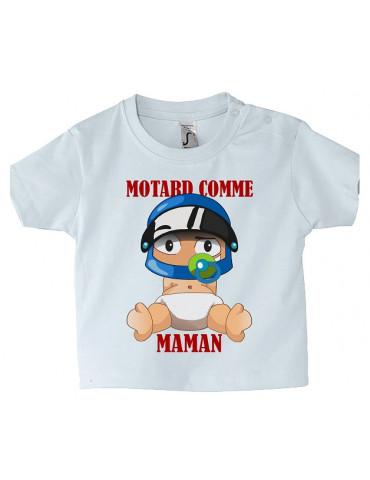 Tee-Shirt bébé Mosquitos BébéMotard - Motard comme Maman - face
