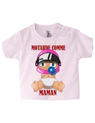 Tee-Shirt bébé Mosquitos BébéMotard - Motarde comme Maman - face