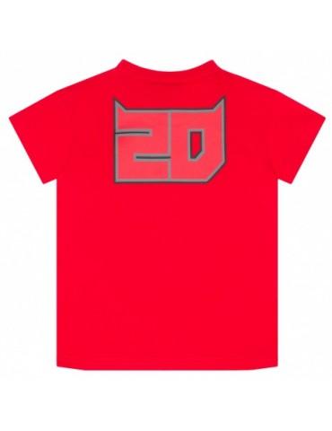 Tshirt Enfant Rouge - Fabio Quartararo - FQ20 - vue de dos