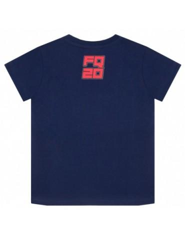 Tshirt Enfant Bleu - Fabio Quartararo - FQ20 - vue de dos