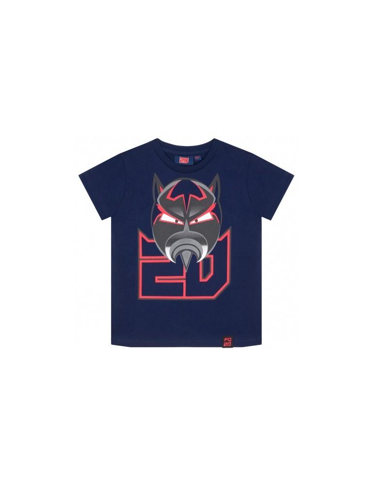 Tshirt Enfant Bleu - Fabio Quartararo - FQ20 - vue de face