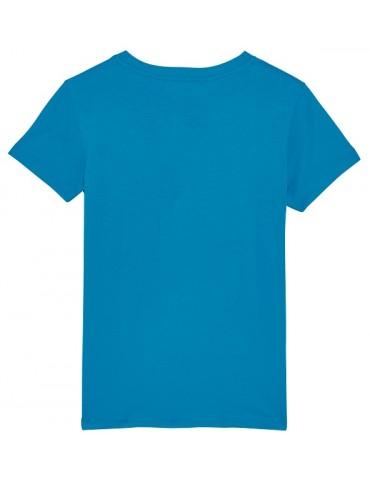 T-Shirt Enfant Go Fast or Go Home - Bébé Motard - Vue de dos -  azur
