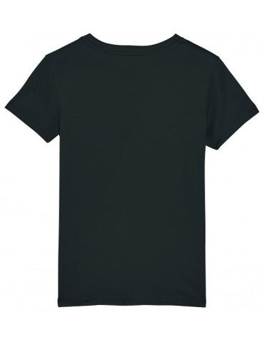 T-Shirt Enfant Go Fast or Go Home - Bébé Motard - Vue de dos -  Noir