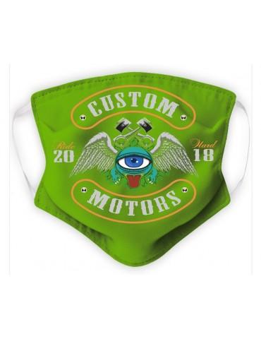 Masque Enfant en Tissu Lavable - Monster - green