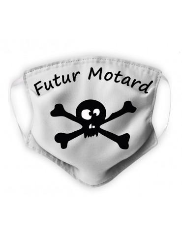 Masque Enfant en Tissu Lavable - Pirate - blanc