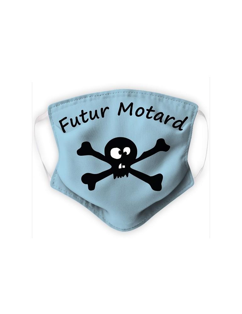 Masque Enfant en Tissu Lavable - Pirate - bleu pale