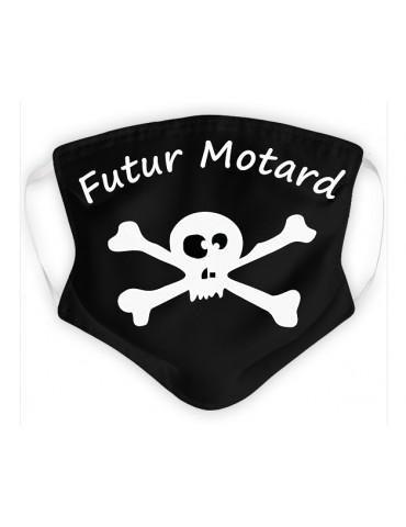 Masque Enfant en Tissu Lavable - Pirate - noir