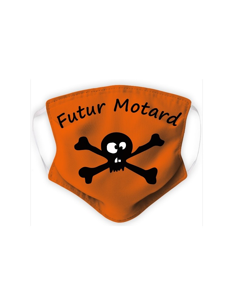 Masque Enfant en Tissu Lavable - Pirate - orange
