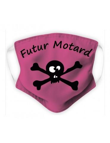Masque Enfant en Tissu Lavable - Pirate - rose