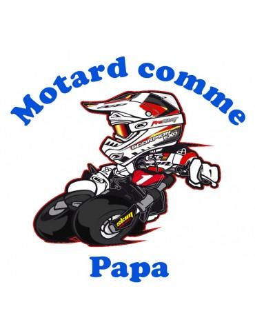 Body Motard comme Papa - Bébé Motard - détail - rouge