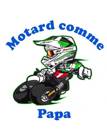 Body Motard comme Papa - Bébé Motard - détail - vert
