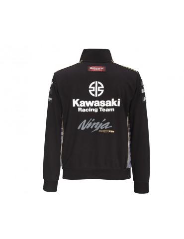 Sweat Zippé WSBK homme - Kawasaki 2020 - Vue de dos - 166KRM036 x