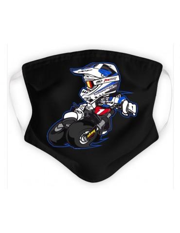 Masque Enfant en Tissu Lavable - Motocross - noir