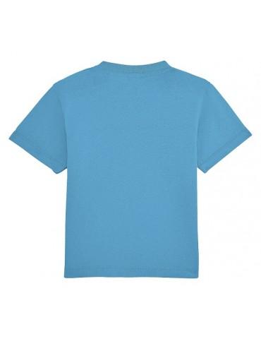 Tee Shirt Bébé Motard Champion -  Personnalisable - bleu - dos