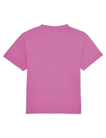 Tee Shirt Bébé Motard Champion -  Personnalisable - rose - dos