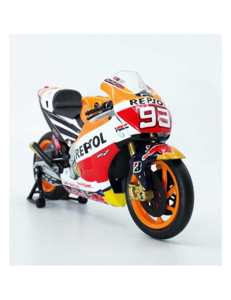 Modèle réduit Honda RCV MotoGP Marquez - vue de 3/4 droit