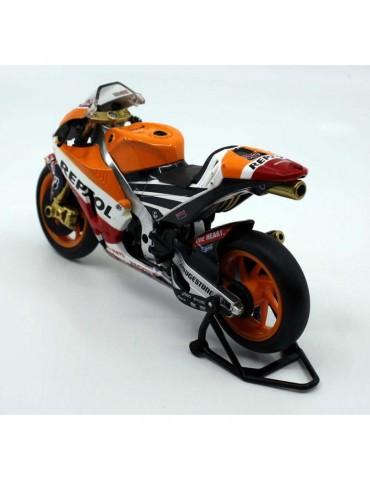 Modèle réduit Honda RCV MotoGP Marquez - vue de 3/4 gauche arrière