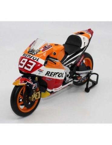 Modèle réduit Honda RCV MotoGP Marquez - vue de 3/4 gauche
