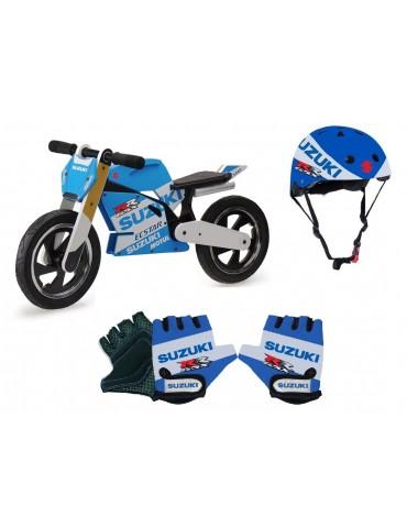 Pack Suzuki Champion du Monde - draisienne - gants -casque