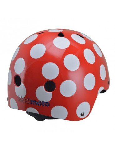 Casque Red and Dotty Kiddimoto vue arrière