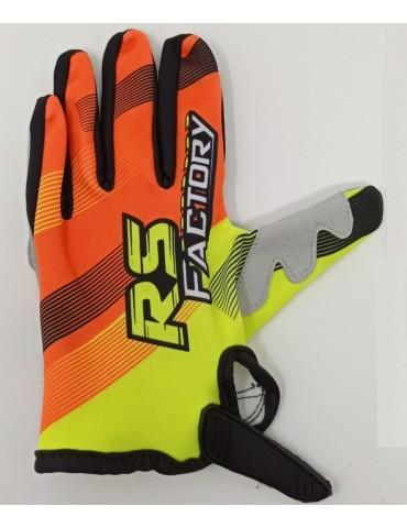 Gants Cross - RS Factory - Jaune Orange -Dos