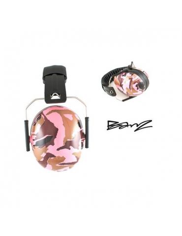 Casque anti-bruit BABYBANZ CAMOUFLAGE Rose pour circuit et concentre