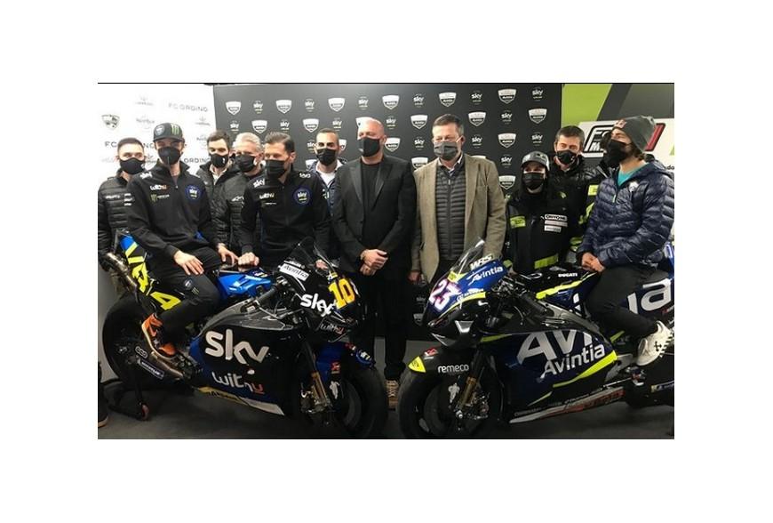Présentation des nouvelles couleurs du team Avintia pour la saison MotoGP 2021